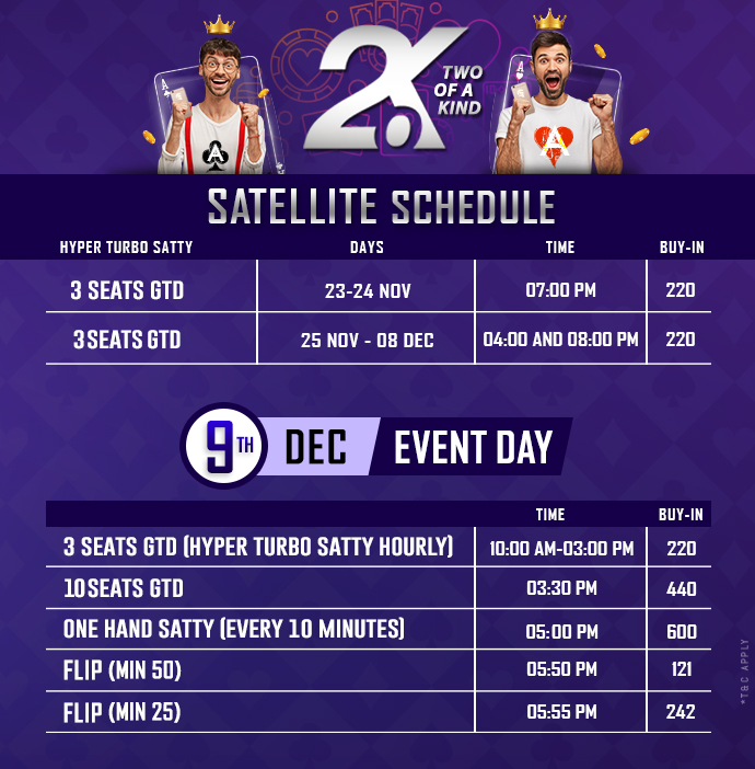 Two of a Kind Satellite schedule