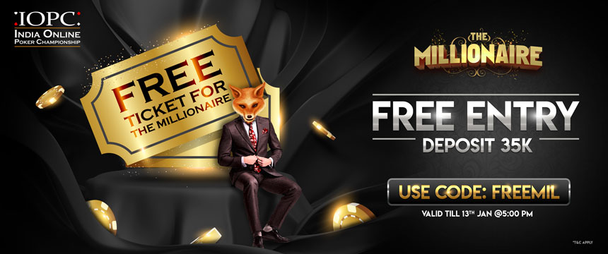 Free Entry to IOPC The Millionaire