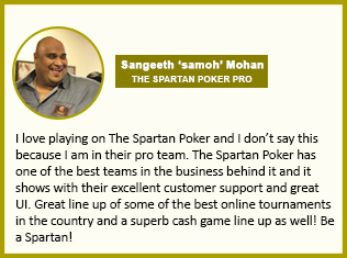Online Poker Testimonial For The Spartan Poker