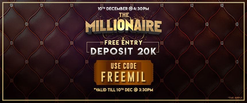 Deposit 20k To Become A Millionaire!