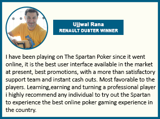 Poker Player Testimonial For The Spartan Poker